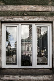 Old window of the ancient house Royalty Free Stock Images