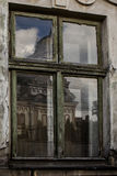 Old window of the ancient house Stock Photography
