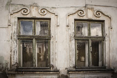 Old window of the ancient house Royalty Free Stock Photography