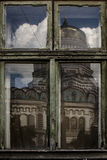Old window of the ancient house Stock Photo