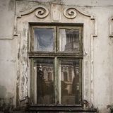 Old window of the ancient house Stock Photos