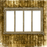 Old window on the antique background Stock Photo