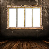 Old window on the antique wall Royalty Free Stock Photo