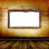 Old window on the antique wall Royalty Free Stock Image