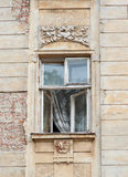 Old window with the architecture of Lviv.  stock images