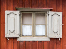 Old window as seen in Skansen Museum, Stockholm Stock Images