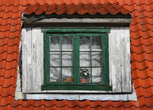 Old window of attic Stock Photography