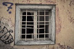 Old window background grunge wall texture Royalty Free Stock Photography