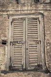 Old window background grunge wall texture Royalty Free Stock Images