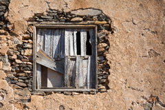 An old window barred with wood Stock Photography