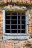 Old window with bars Royalty Free Stock Photography