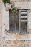 Old window. In a beauty village Soller in Mallorca Royalty Free Stock Photo
