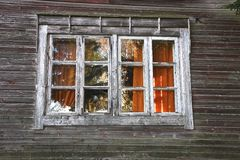 Old Window. Window belonging to an old house in Finland Stock Photos