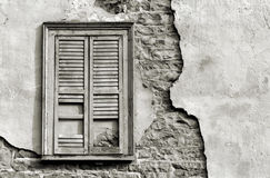 Old Window in Black and White Royalty Free Stock Image