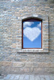 Old Window and Blue Sky Stock Image