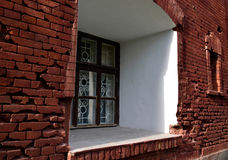 Old window in the Brest Fortress Royalty Free Stock Photo