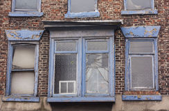 Old window. On brick wall Royalty Free Stock Image
