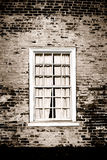 Old Window and Brick Wall on Historic Building Royalty Free Stock Image