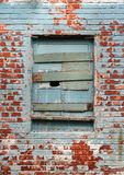 Old window and bricks wall Royalty Free Stock Photo
