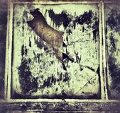 Old window with broken glass Royalty Free Stock Photos