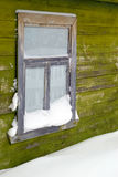 The old window brought by a snow Royalty Free Stock Images