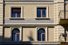old  window in the   centre   of city lugano Switzerland Swiss Royalty Free Stock Image