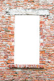 Old window closed with bricks. Royalty Free Stock Image