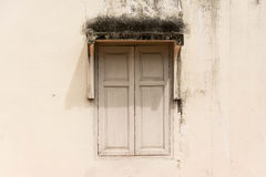 Old window of closed Royalty Free Stock Photo