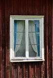 Old window. An old cottage window. This is typical Swedish style Stock Photo