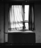 Old window with curtain II Stock Photography