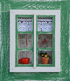 Old window. Decorated old window in Europe Royalty Free Stock Photo