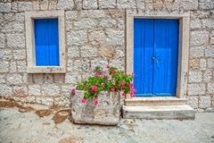 Old window and door Royalty Free Stock Image
