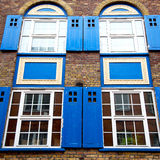 Old window in europe london  red brick wall     and      histori Royalty Free Stock Photos