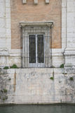 Old window, Fountains and gardens of the palace of Aranjuez in M. Adrid, Spain Stock Photography