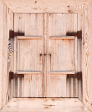 Old window. Fragment of the old wall with window Royalty Free Stock Images