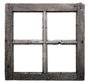 Old window frame. Isolated on white background Stock Image