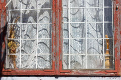 Old window frame Stock Images