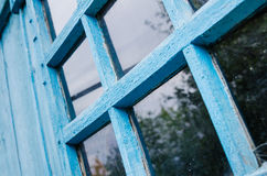 Old window frame. Rural backgrounds Stock Images