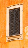 Old Window Frame with Shutters Royalty Free Stock Images