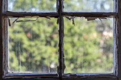 Old window frames Royalty Free Stock Image