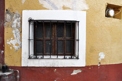 Old window, Front of an old mexican house Royalty Free Stock Photo