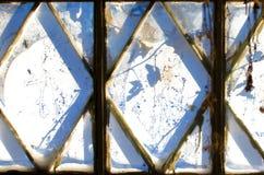 Frozen winter window Stock Photos