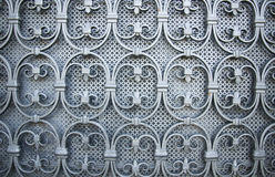 Old window with grate. In Italy royalty free stock photo