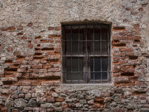 Old window with grate Royalty Free Stock Photography