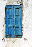 Old window in a Greek island Stock Photos