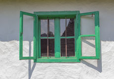 Old Window. Old green window abstract frame Royalty Free Stock Image