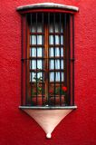 Old window with grille Stock Photography