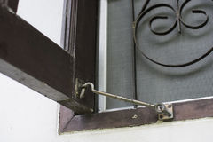 Old Window Hook With Wooden Window Royalty Free Stock Photo