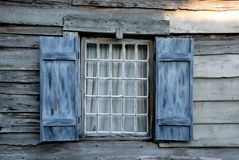 Old window on a house Royalty Free Stock Image