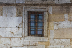 Old window inside ancient wall Stock Images